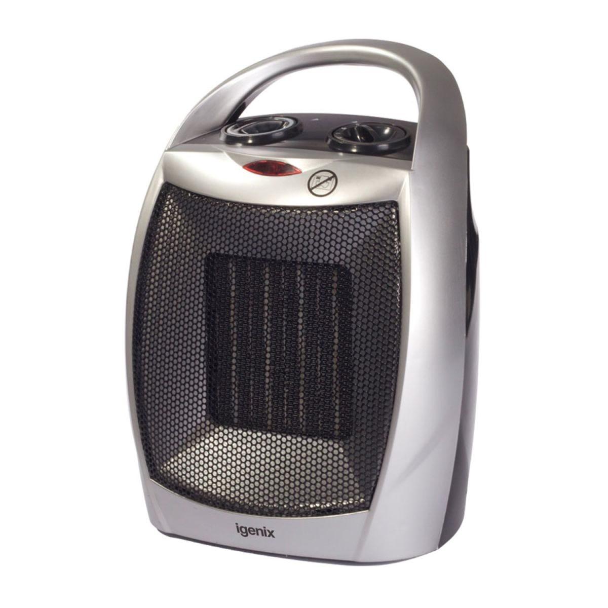 Igenix 1.8kW Ceramic Fan Heater with 2 Heat Settings