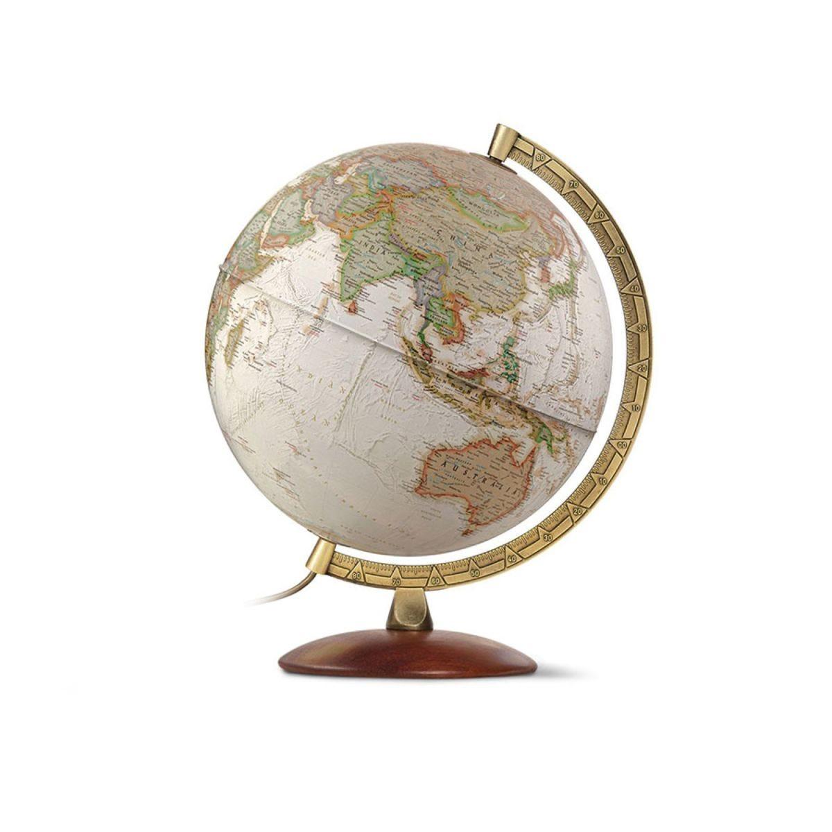 National Geographic 30cm Edge Executive Antique Reference Illuminated Globe