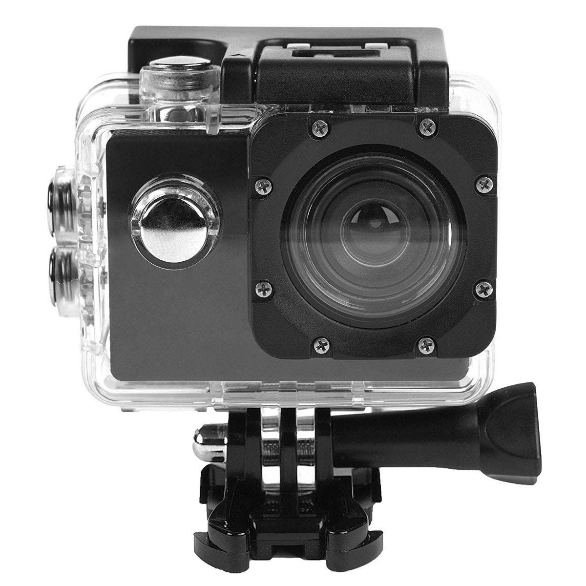 Intempo Waterproof Wide Angle IPX8 Action Camera - Black