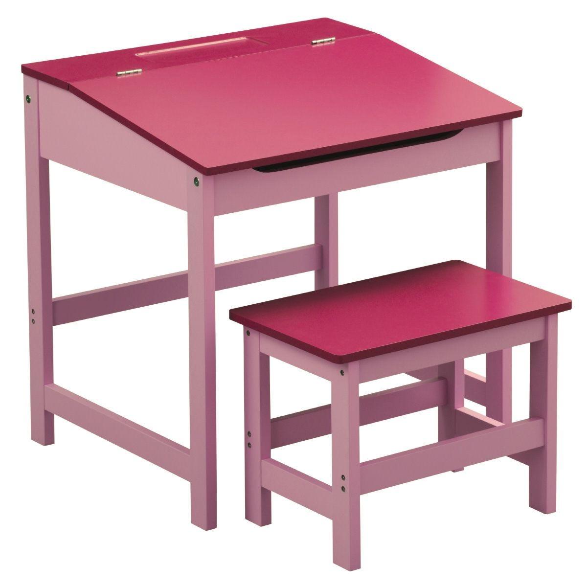 Kids Desk & Stool - Pink