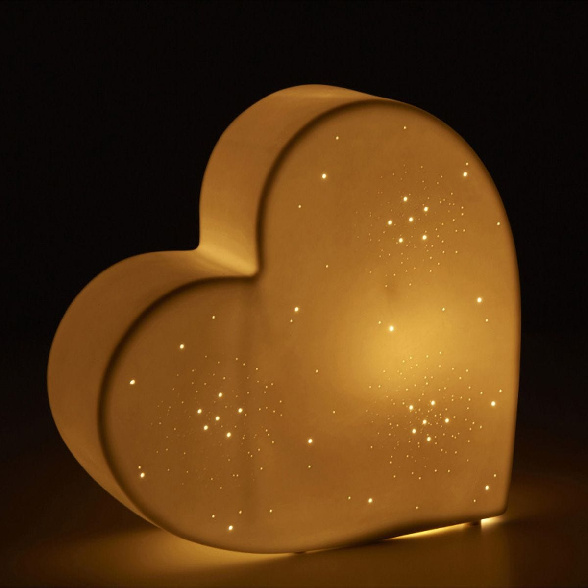 Kids Ceramic Heart Night Light