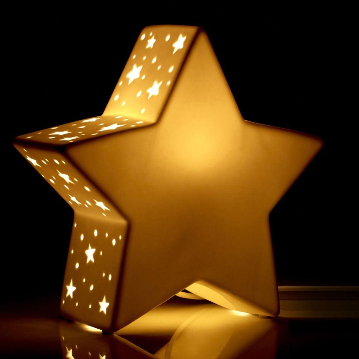 Kids Ceramic Star Night Light