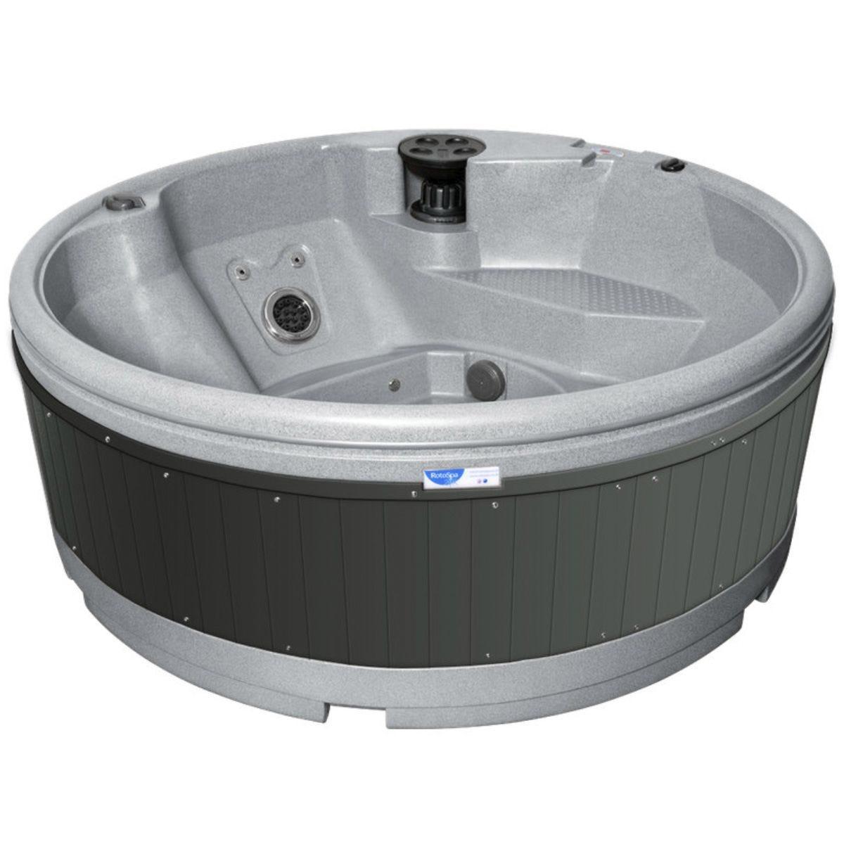 RotoSpa QuatroSpa Hot Tub - Light Grey
