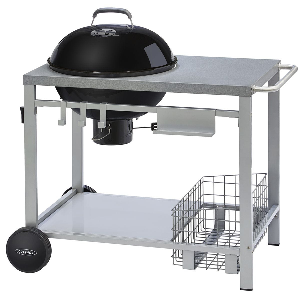 Outback Charcoal Kettle Trolley BBQ