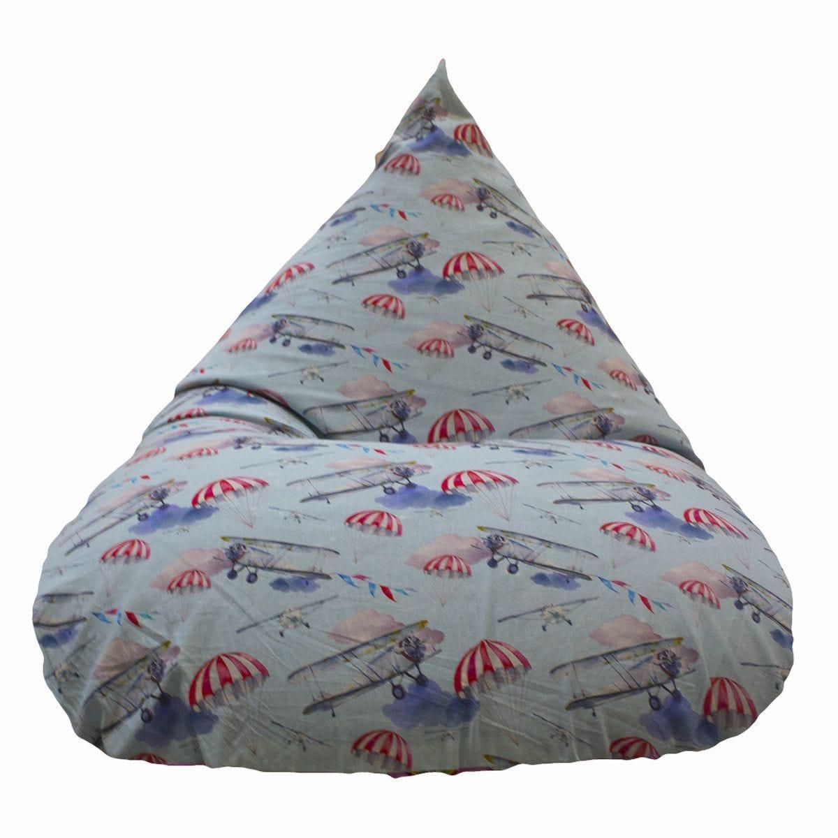 Cuddle Bed Large Aeroplane Bean Bag - Blue
