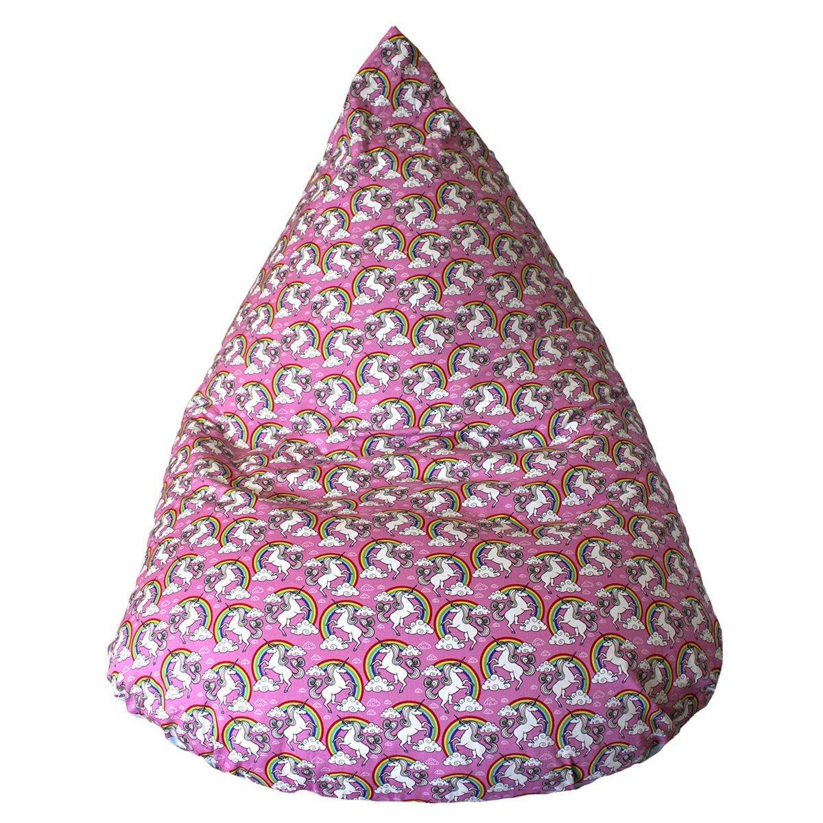 Cuddle Bed Medium Unicorn Bean Bag - Pink