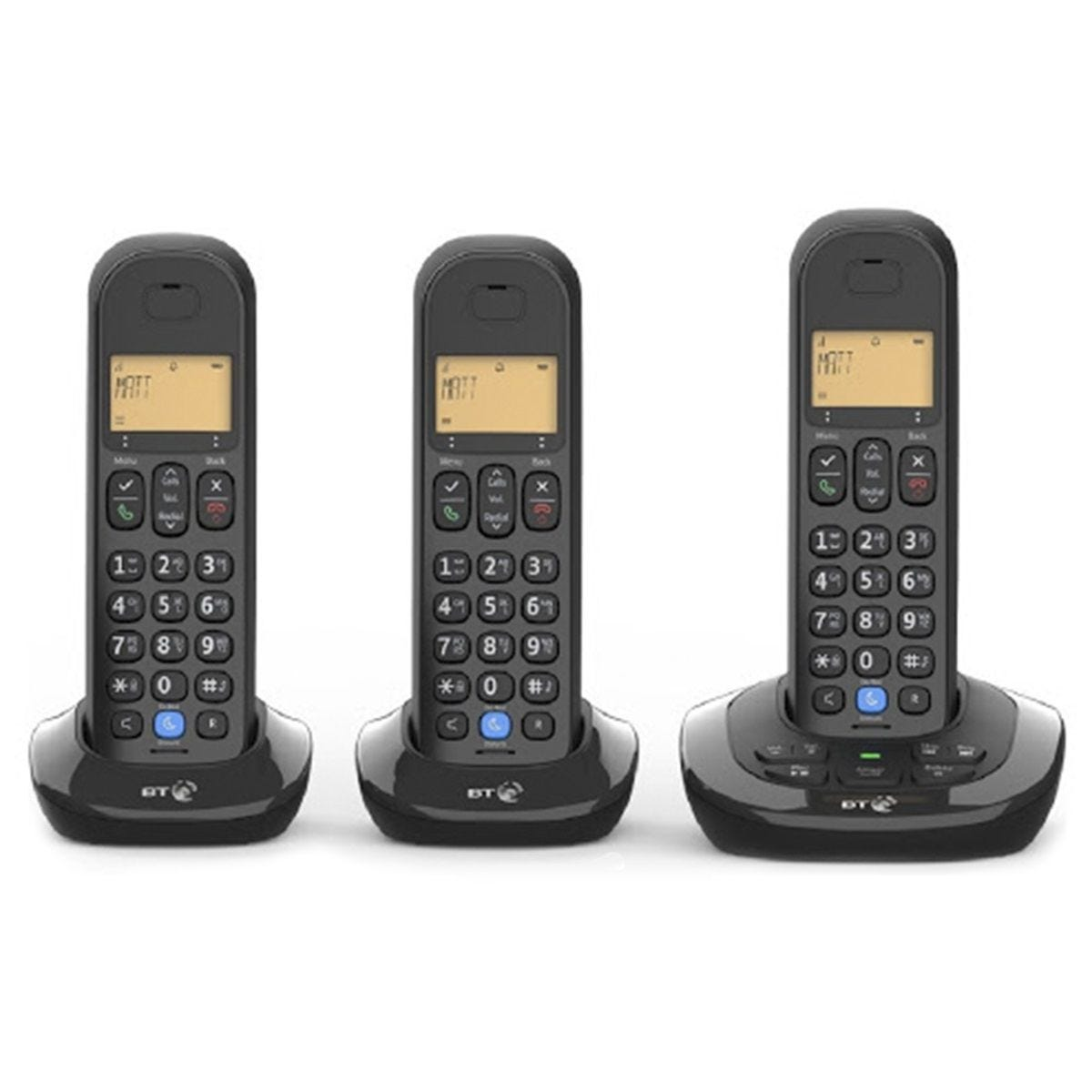 BT 3880 Cordless Home Phone with Nuisance Call Blocking and Answering Machine - Trio