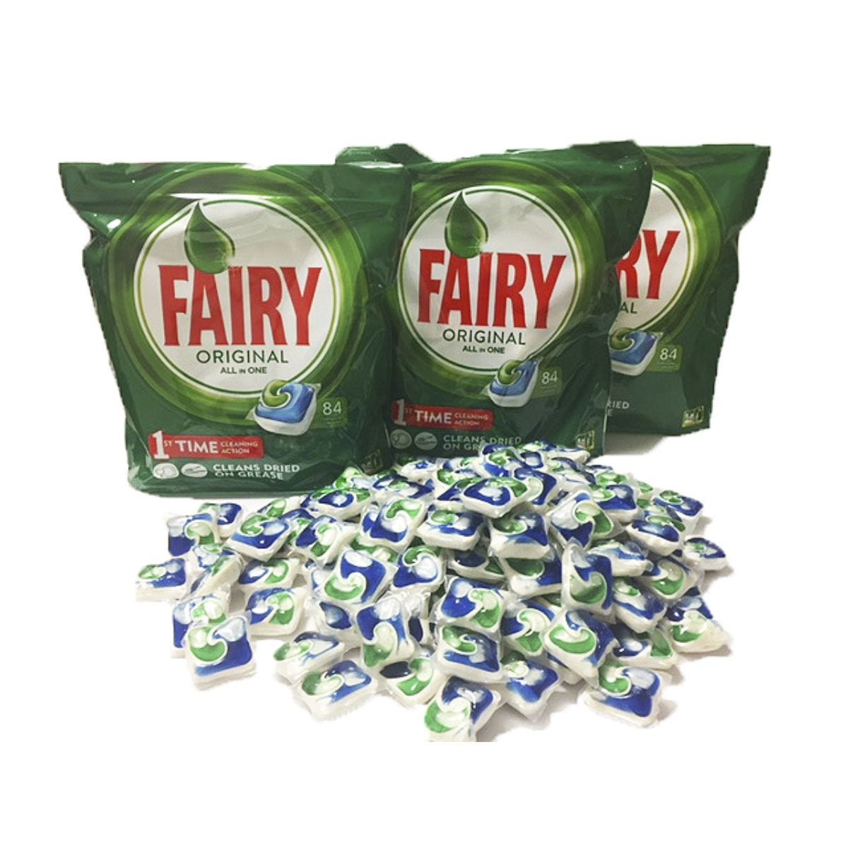 Fairy Original Dishwasher Tabs - 3 x 84pk (252 Washes)