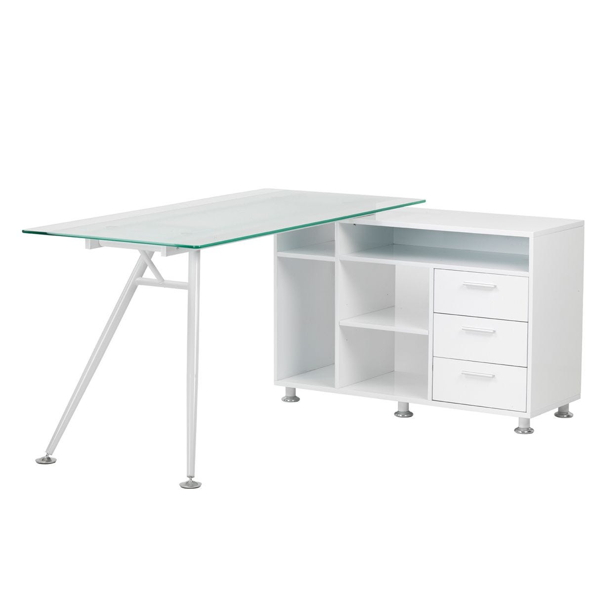 Alphason Augusta Work Centre Glass Desk
