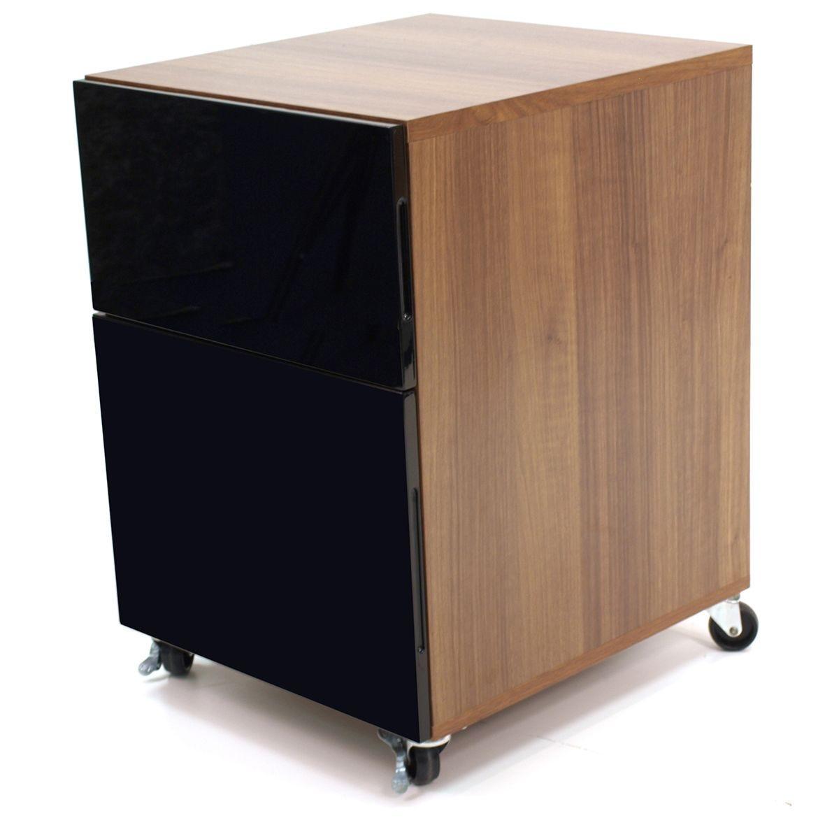 Alphason Juo Storage Pedestal - Walnut