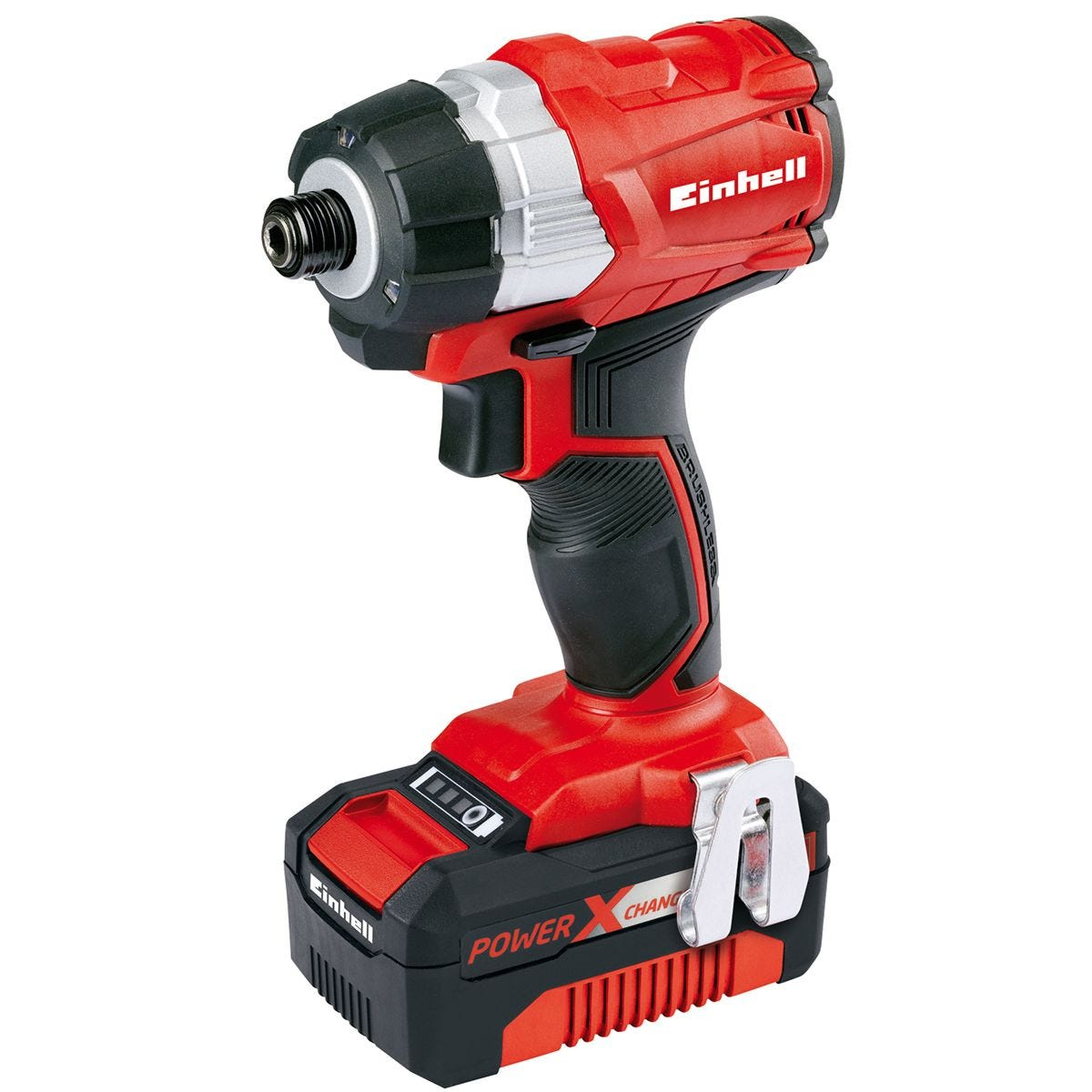 Einhell Power-X-Change 18V Cordless Brushless Impact Driver with 1 x 4.0AH Li-Ion Battery and Tool Bag