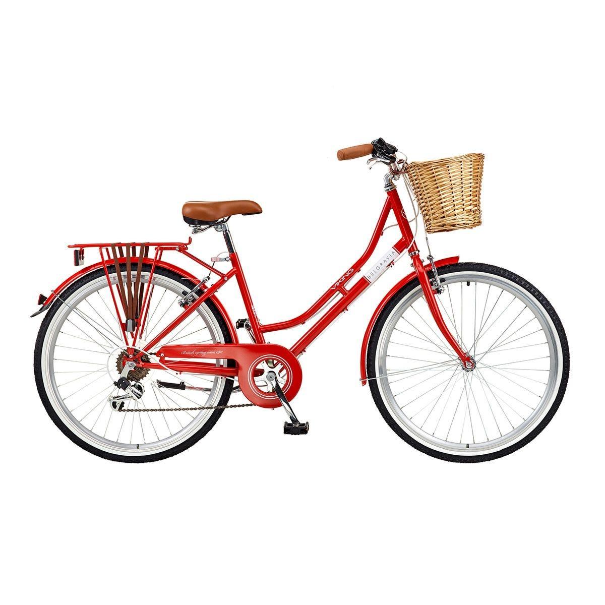 Viking Belgravia Ladies Traditional Heritage 6 Speed Bike 26 Inch Wheel - Red