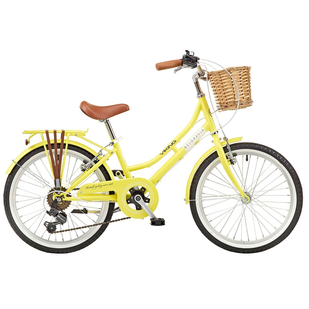 Viking Belgravia Girls Traditional Heritage 6 Speed Bike - Lemon
