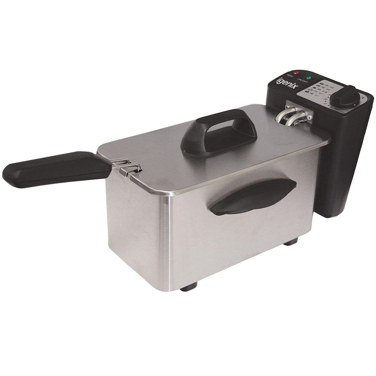 Igenix IG8015 1.5L 1500W Mini Deep Fat Fryer – Stainless Steel
