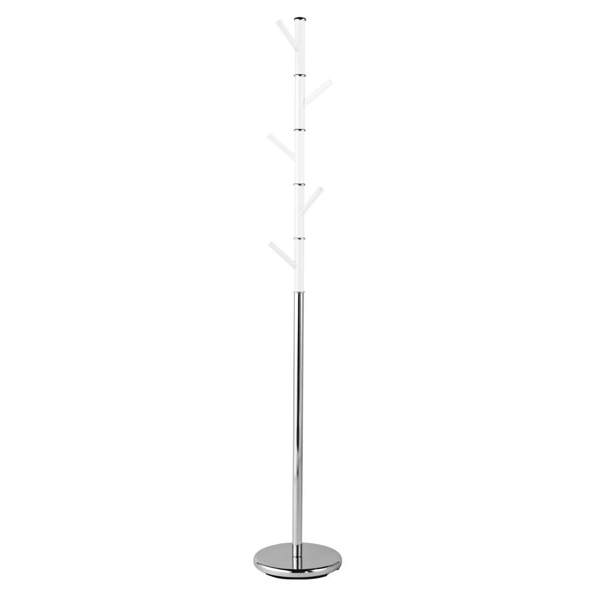 Premier Housewares Acrylic Peg Coat Stand - White/Chrome