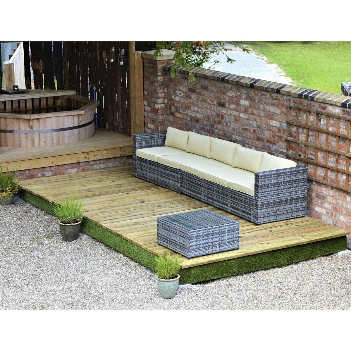 Swift Foundations Garden Decking Kit - 2.4 x 9.3m