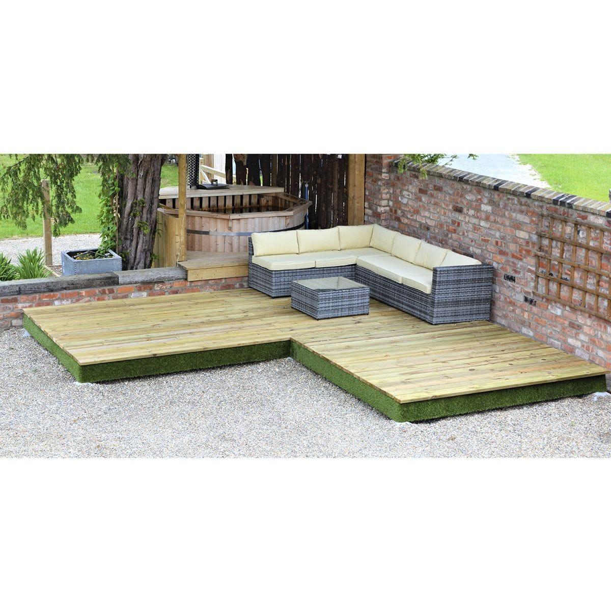 Swift Foundations Garden Decking - 4.7 x 4.7m Corner