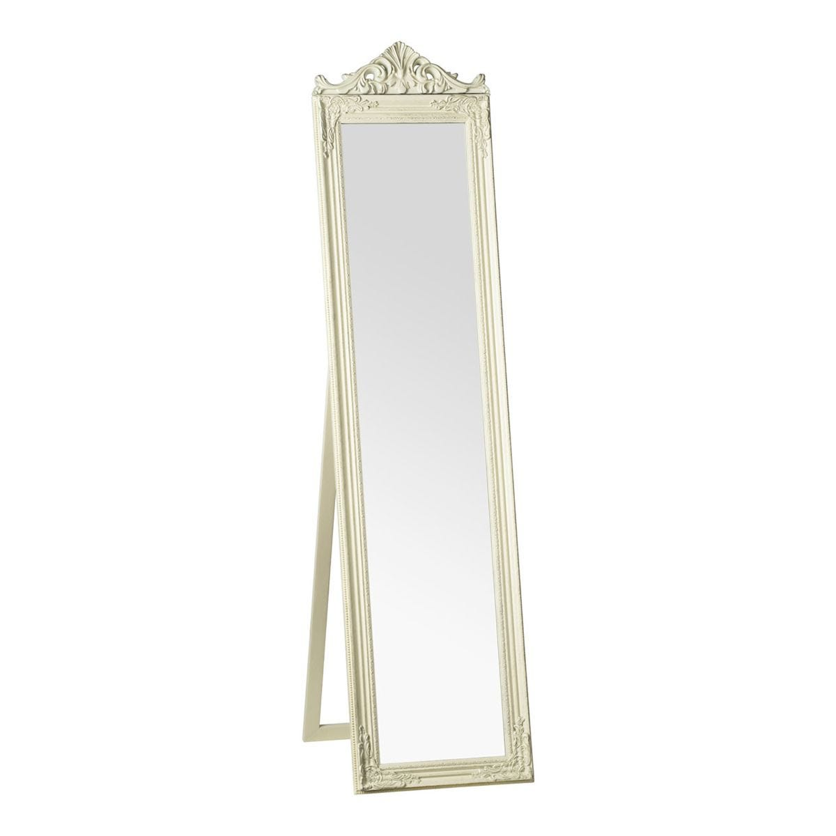 Premier Housewares Boudoir Standing Mirror- Cream/Gold