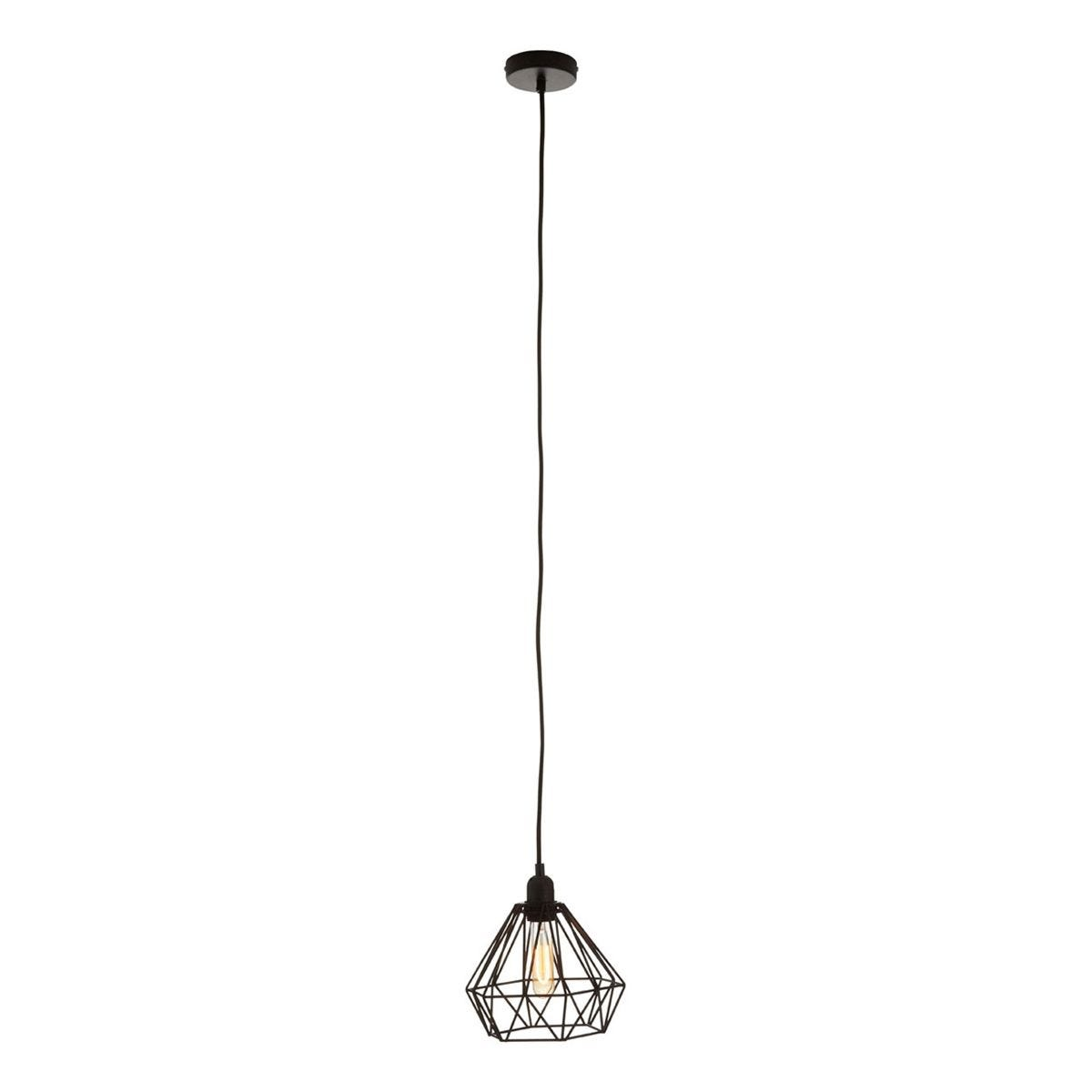 Premier Housewares Bartol Pendant Light Metal Wire - Black