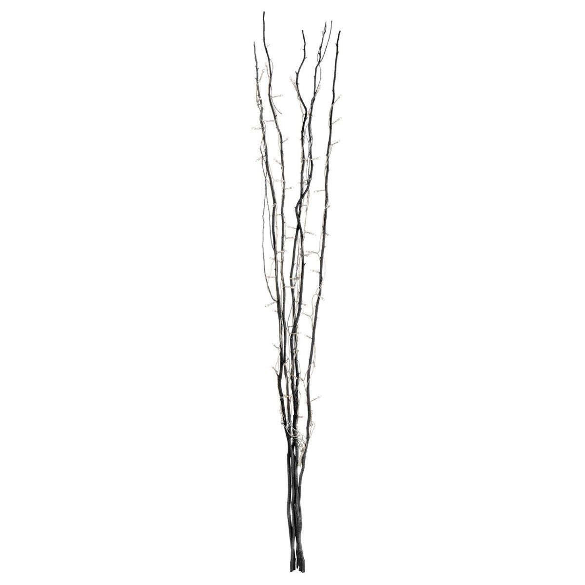 Premier Housewares Black Twigs with 80 Lights