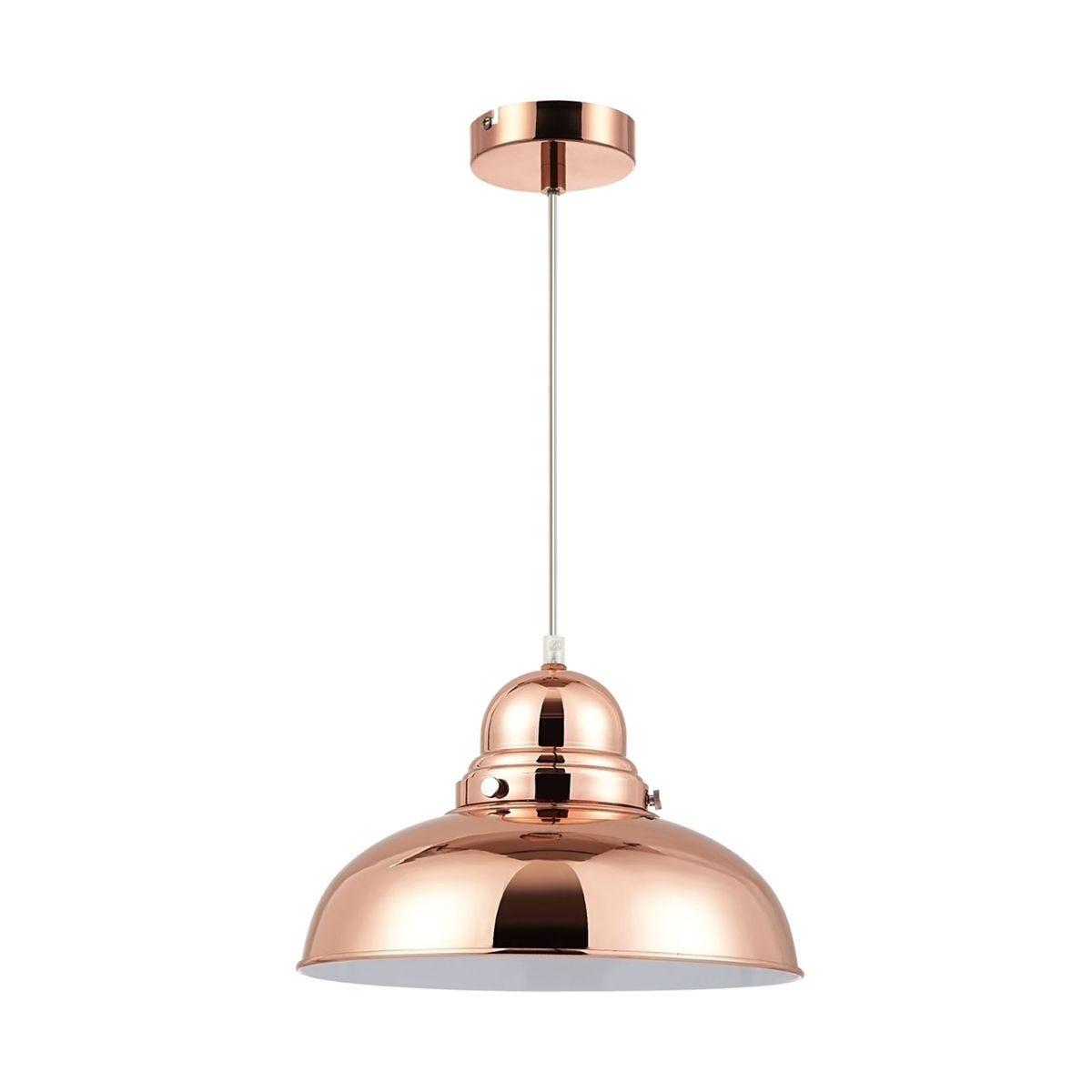 Premier Housewares Jasper Pendant Light - Copper Finish