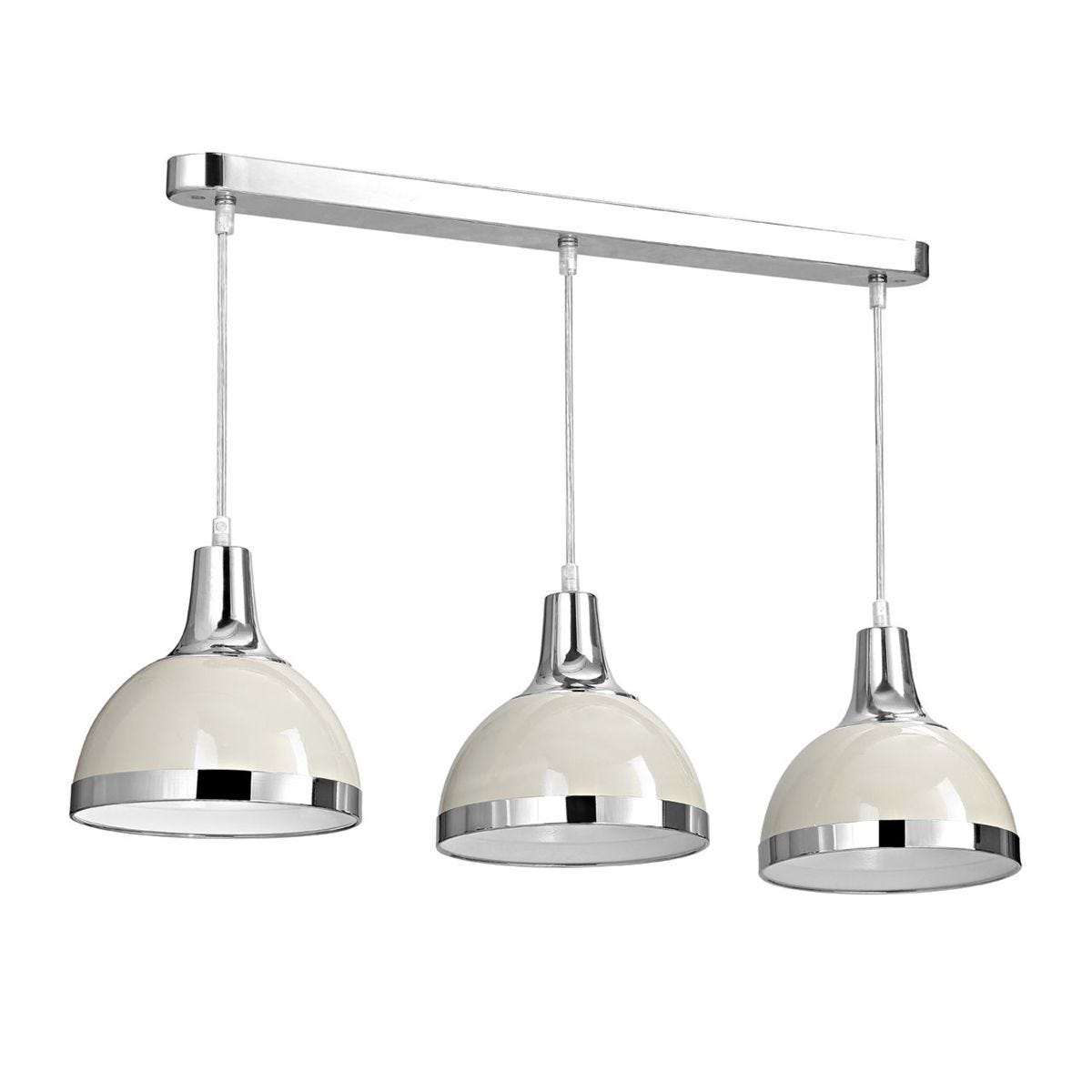 Premier Housewares Vermont Pendant Light 3 Shades - Clay/Chrome