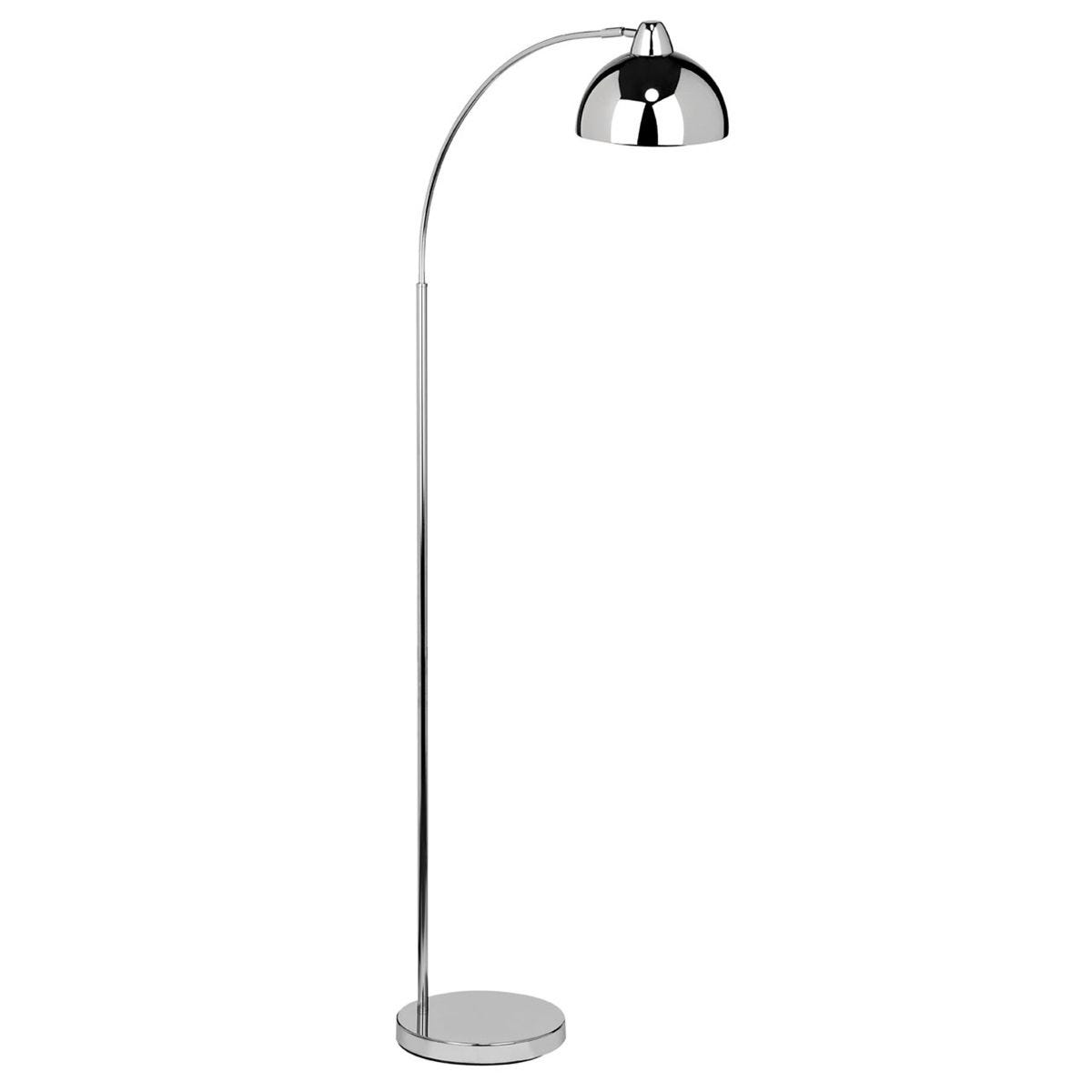 Premier Housewares Calle Floor Lamp - Chrome Finish Metal