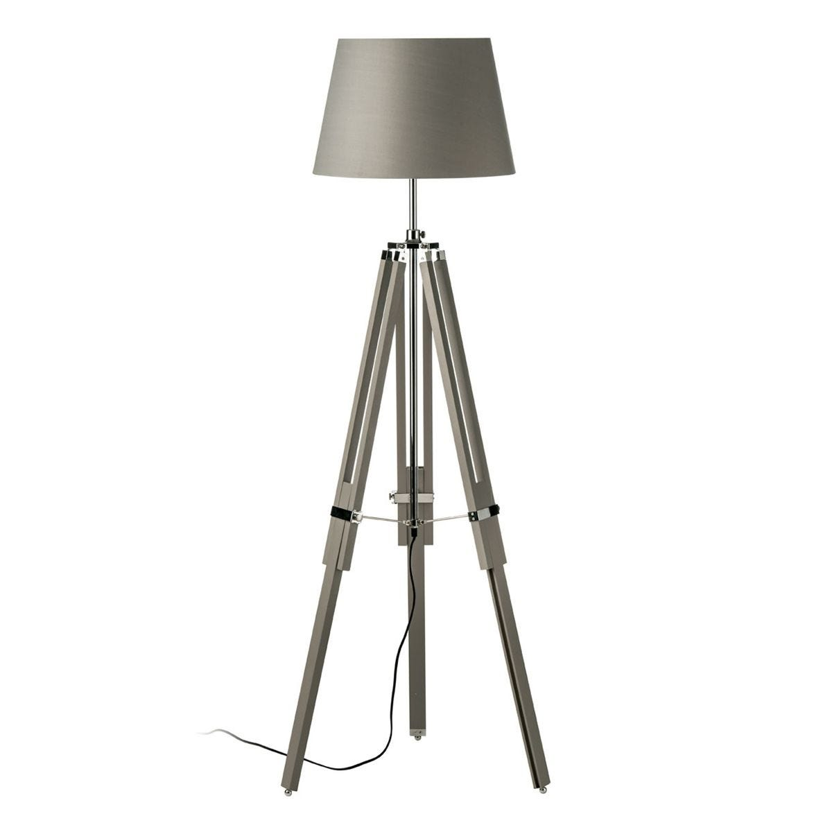 Jasper Floor Lamp Tripod Base - Grey