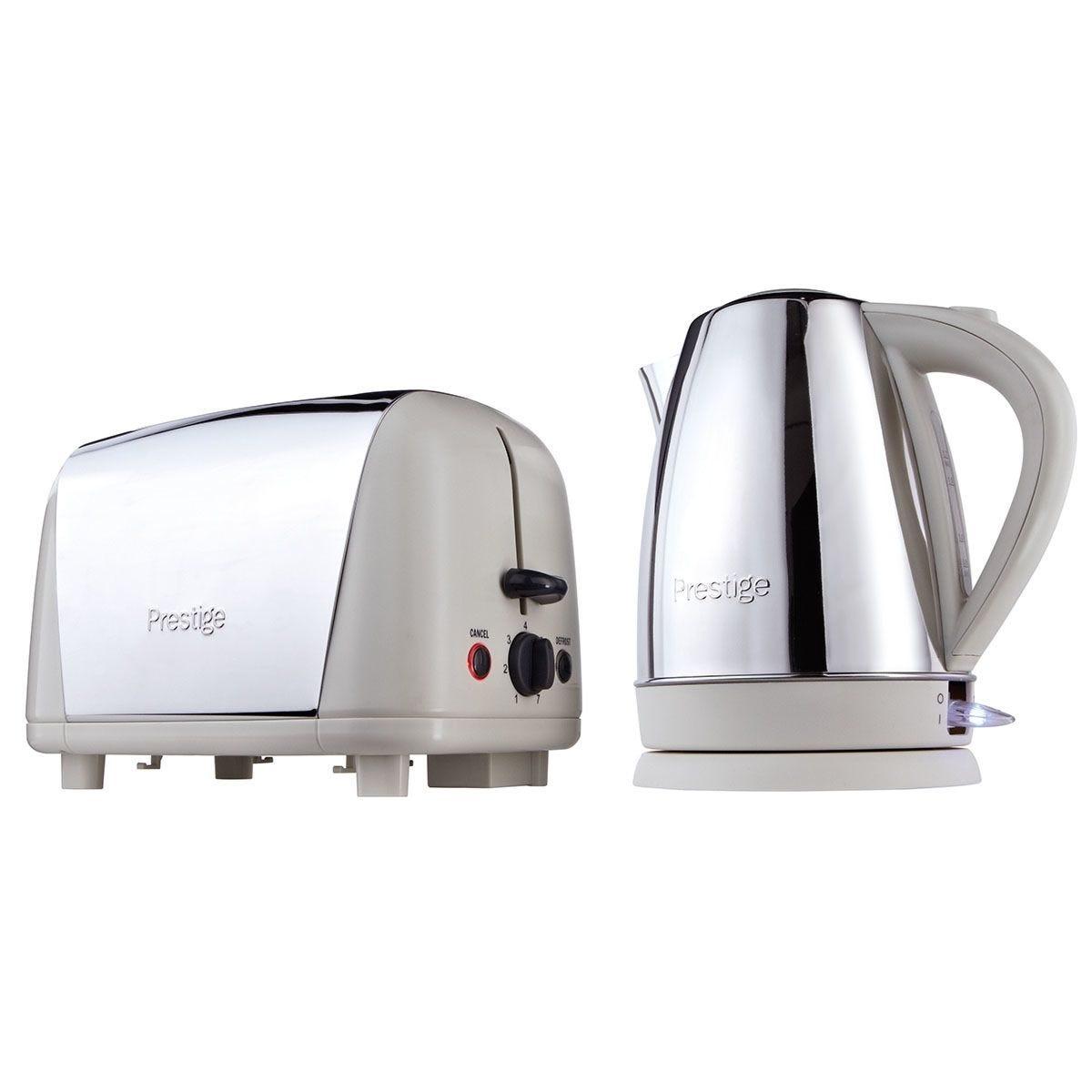 Prestige 53233 Breakfast Kettle and Toaster Set – Almond