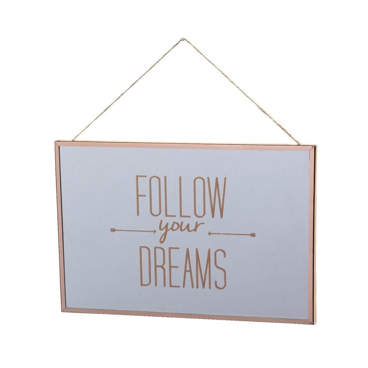 Follow Your Dream Mirror - 20 x 30cm
