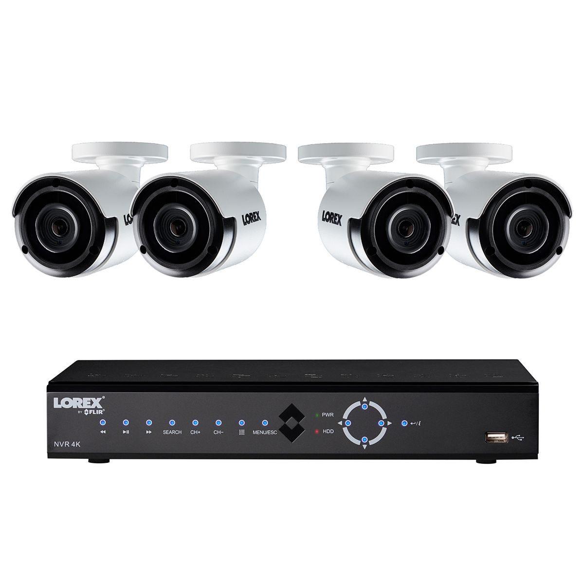 Lorex CCTV 8 Channel 4K Ultra HD NVR 2TB + 4 x 4MP Super HD Cameras