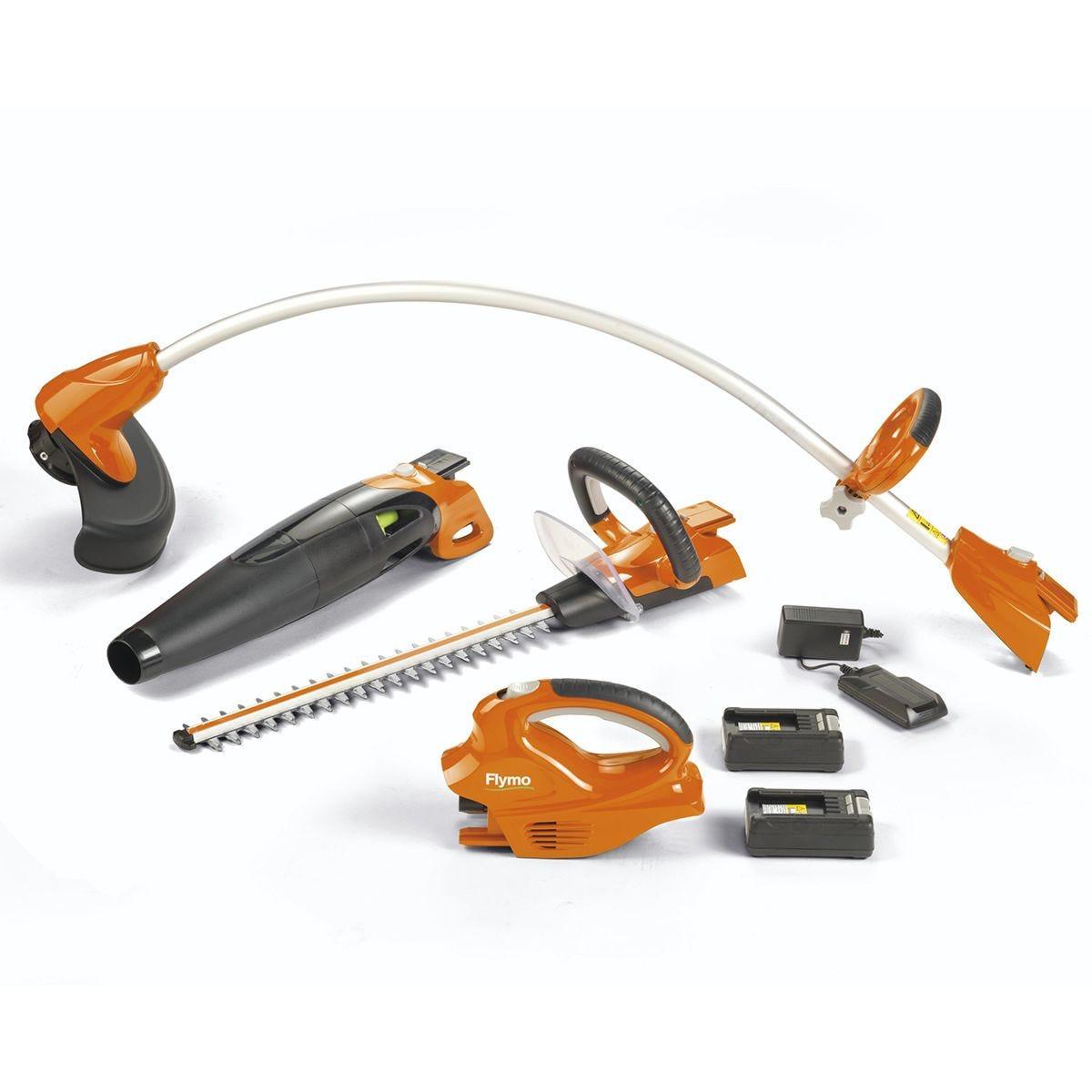Flymo C-Link 20V 3 in 1 Bundle Kit - Grass Trimmer, Hedge Trimmer and Leaf Blower
