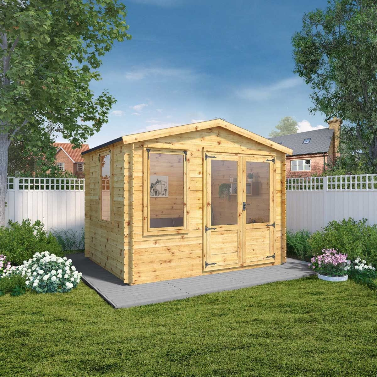 Mercia 19mm Log Cabin - 3.3 x 3m