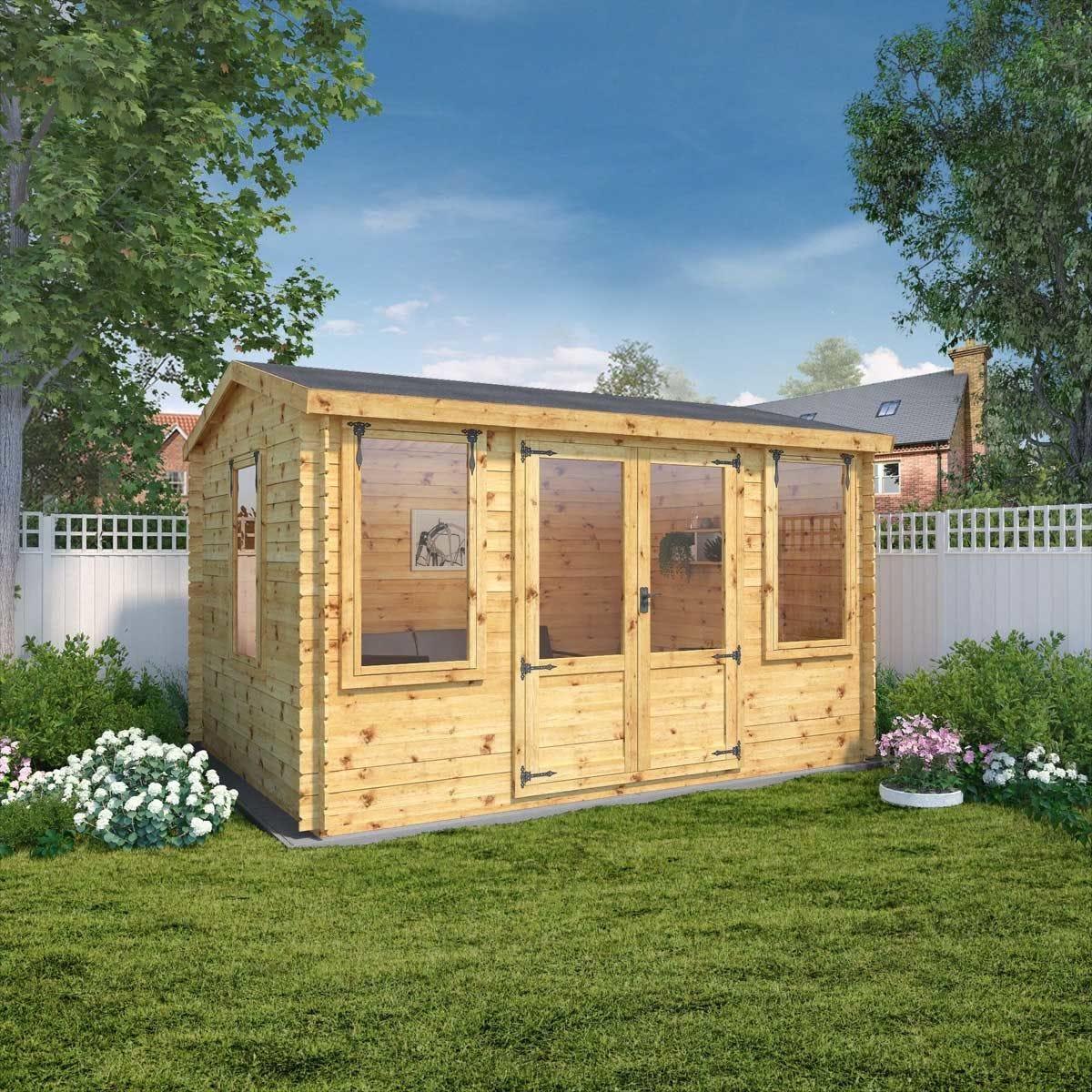 Mercia 19mm Grizedale Log Cabin - 4m x 3m
