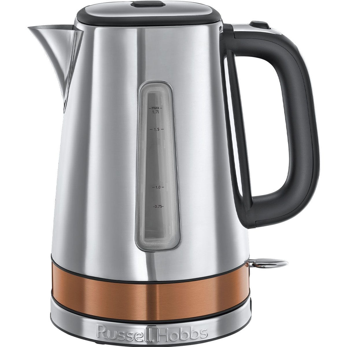 Russell Hobbs 24280 Luna Quiet Boil 1.7L Kettle - Silver and Copper