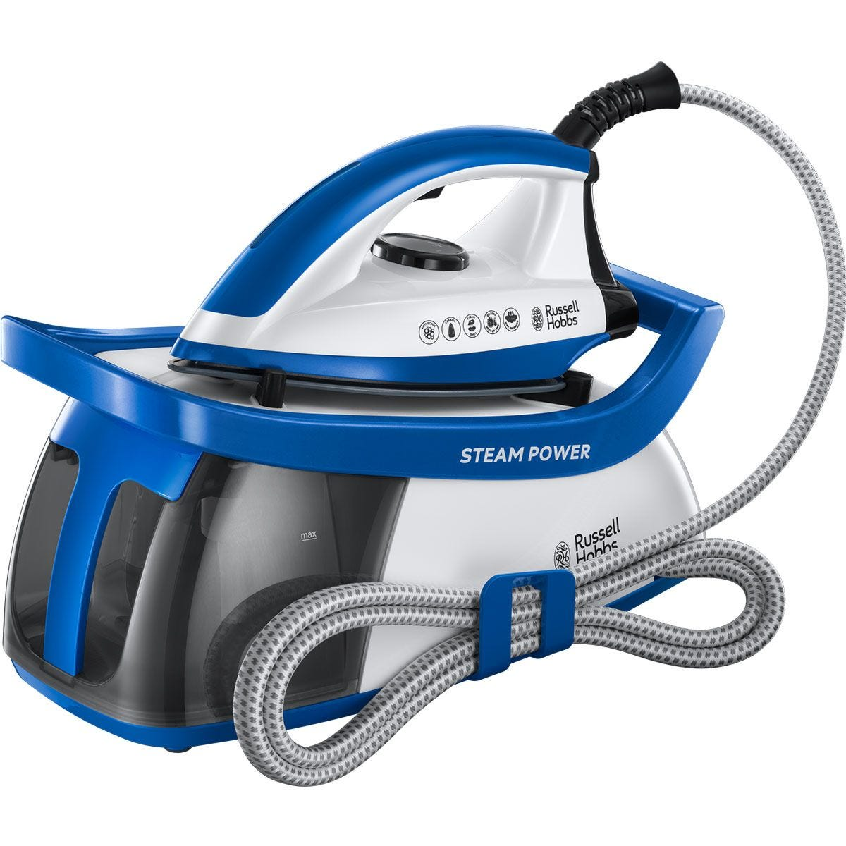 Russell Hobbs 24430 SteamPower Series 2 1.3L Steam Generator - Blue and White