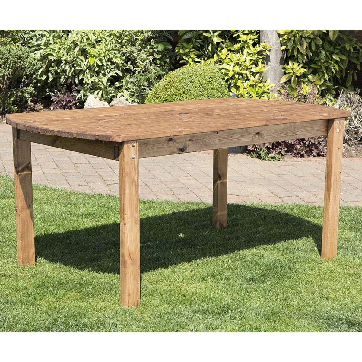 Charles Taylor Six Seater Wooden Rectangle Table