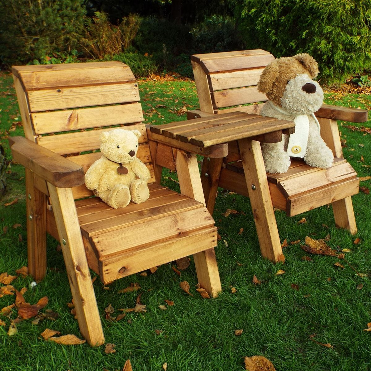 Charles Taylor Little Fellas Children's Twin Wooden Chair Companion Set - Straight