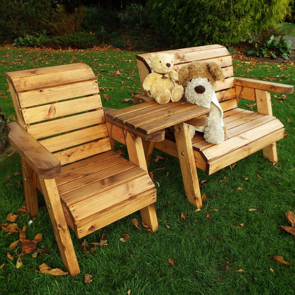 Charles Taylor Little Fellas Children S Wooden Bench Chair Combination Set Straight Robert Dyas