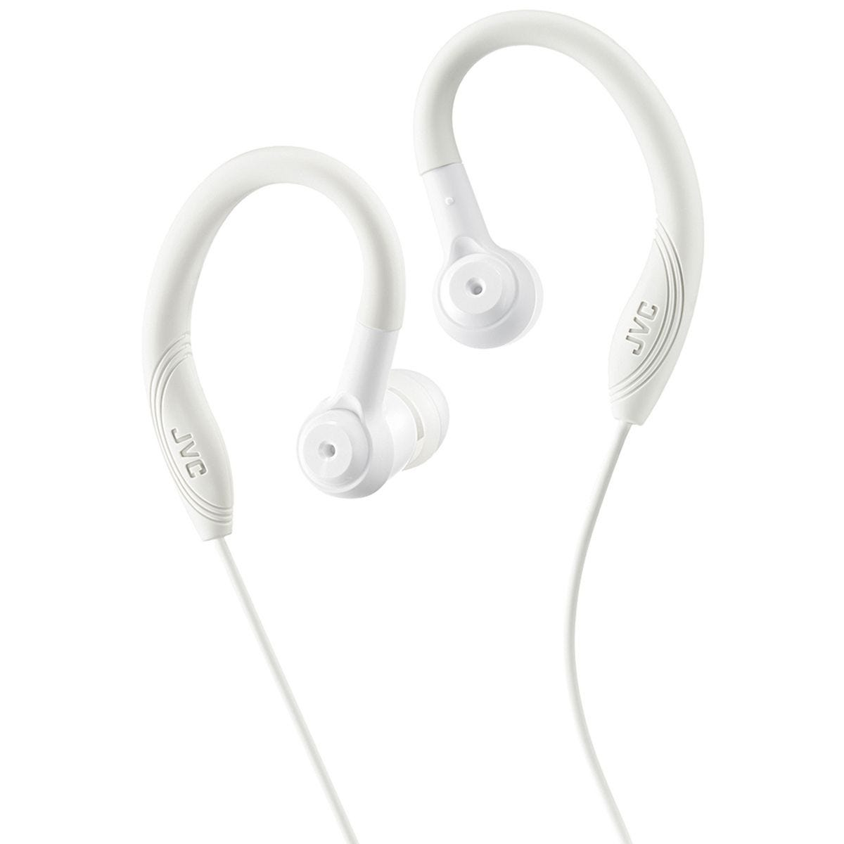 JVC Sports In Ear Headphones with Over Ear Clip - White