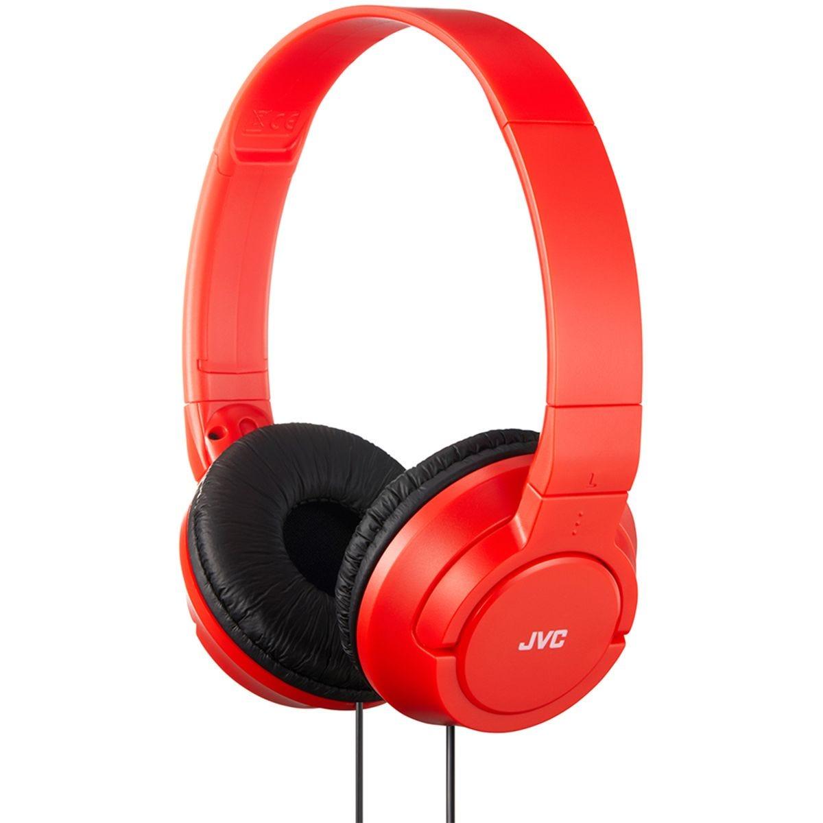 JVC Powerful Bass Headphones - Red