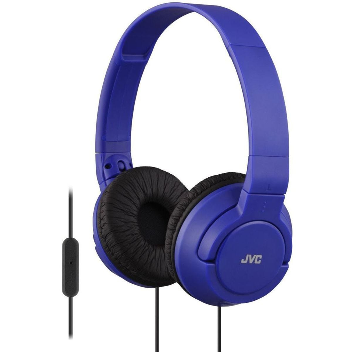 JVC Powerful Bass Headphones with Remote Mic - Blue