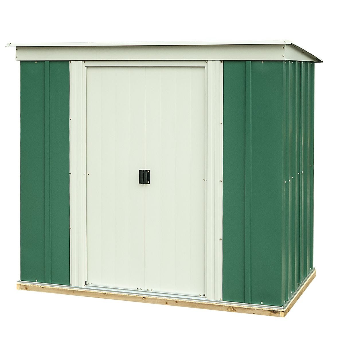 Rowlinson 6 x 4 Greenvale Metal Pent Shed With Floor
