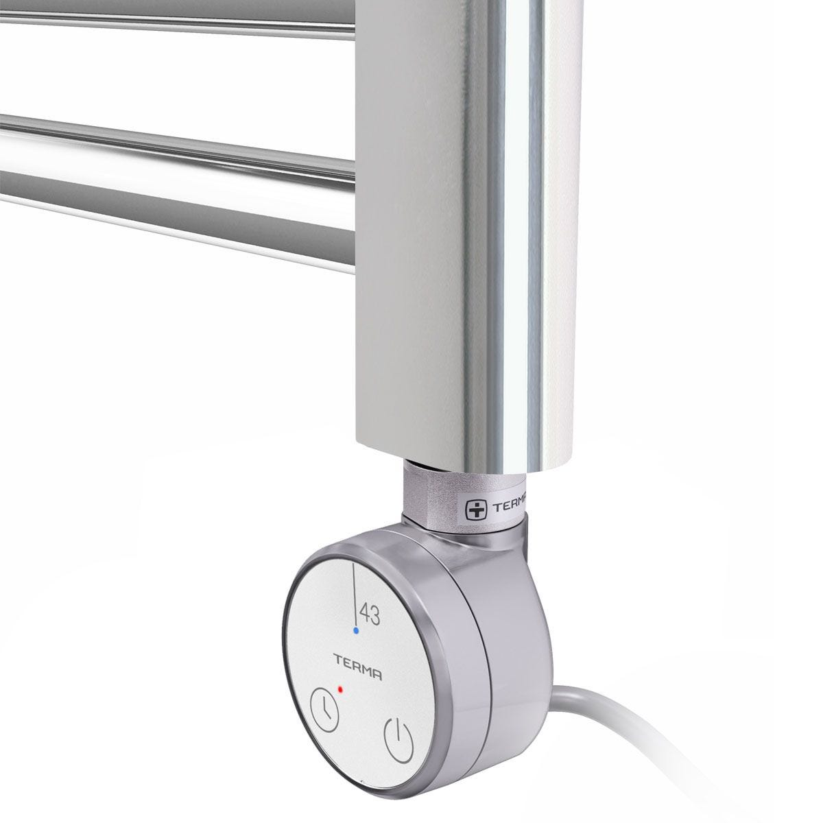 Terma Leo Heated Towel Rail with 43D Thermostatic Element - 800 x 500mm 200W
