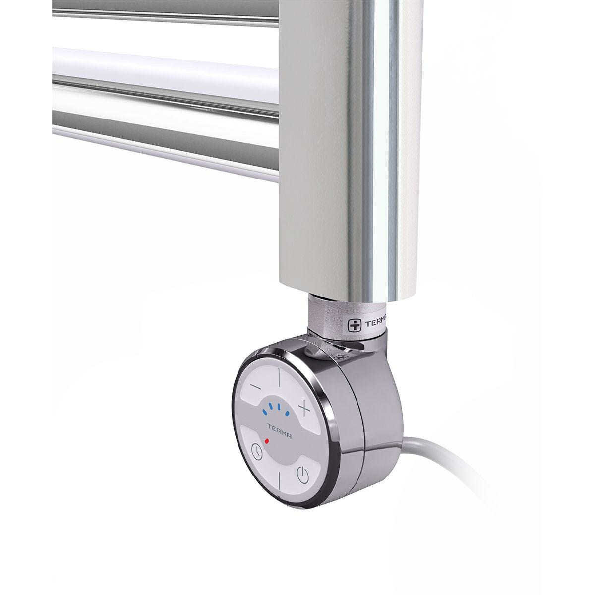 Terma Leo Electric Towel Rail with MOA Thermostatic Element Chrome 600 x 400mm 120W