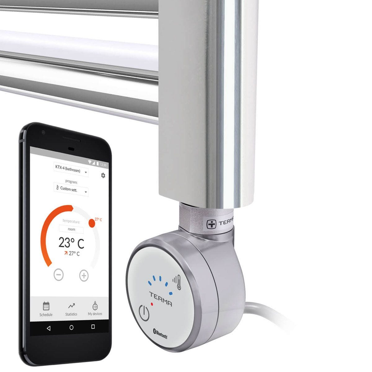 Terma MOA Bluetooth Fully Thermostatic Element Silver - 200w