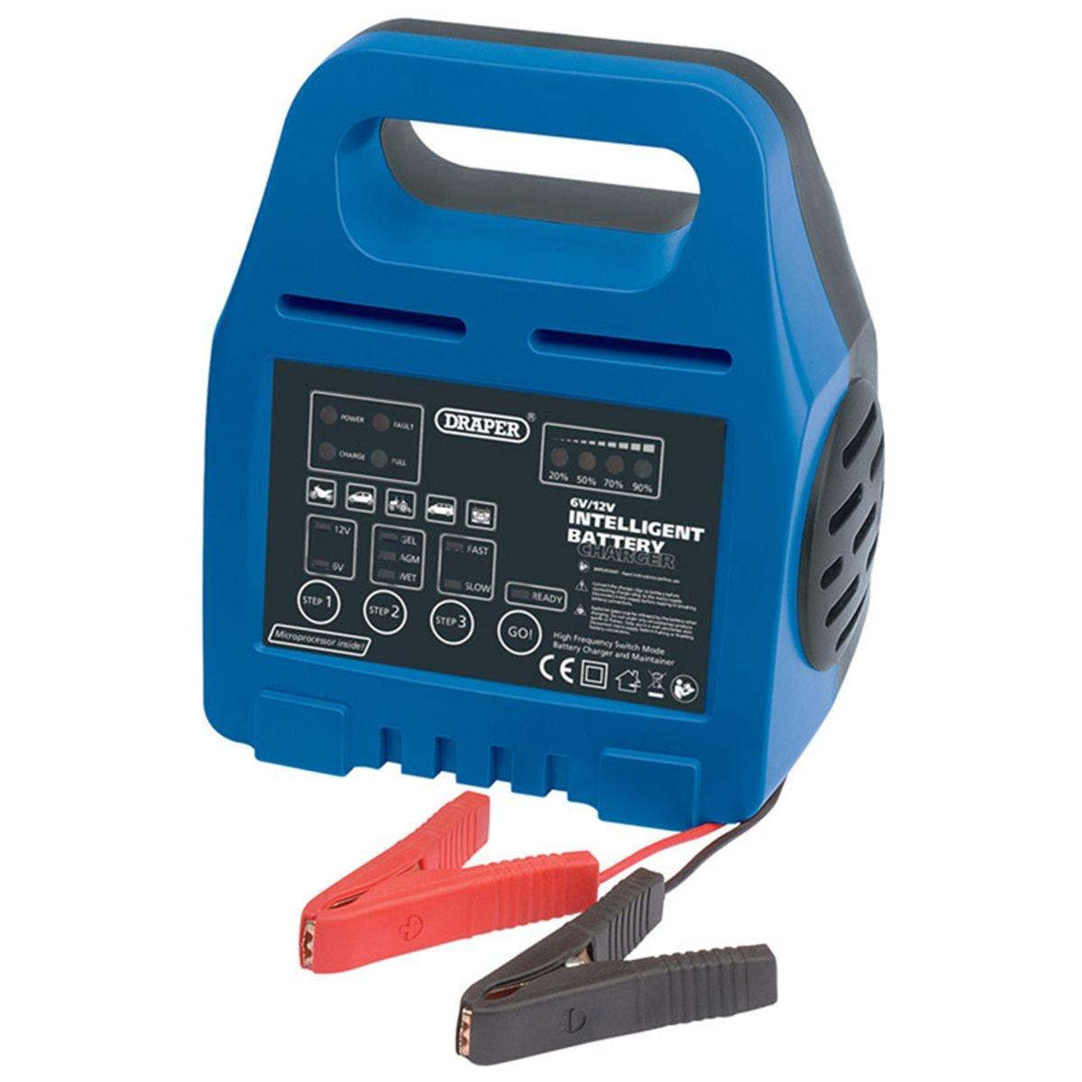 Draper 6/12V Intelligent Battery Charger
