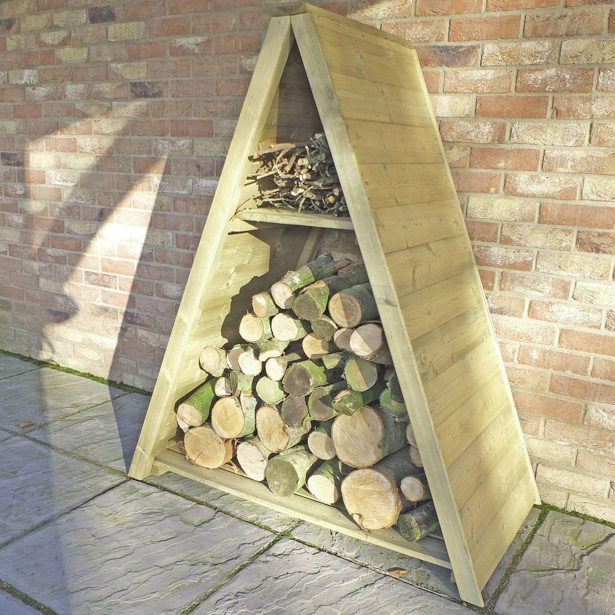 Shire Pressure-Treated Large Triangular Tongue & Groove Log Store