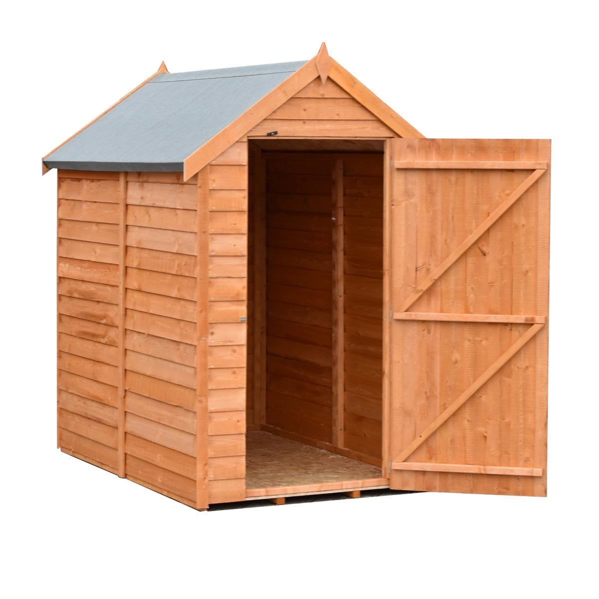 Shire Value Overlap Shed - 6ft x 4ft