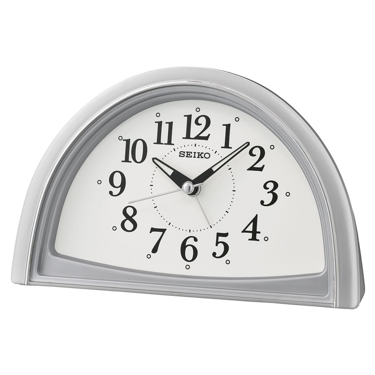 Seiko Analogue Beep Alarm Clock - Silver